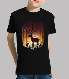 nel bosco cervo
