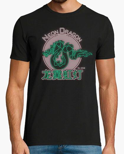 Camiseta Neon Dragon (white)