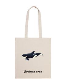 neonato borsa orca tela 100 cotone