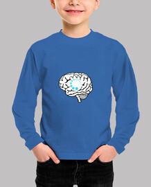 nerd brain buffer camiseta para niños