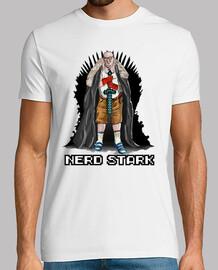 Nerd Stark camiseta blanca chico