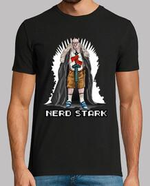 nerd stark trono bianco t-shirt nera