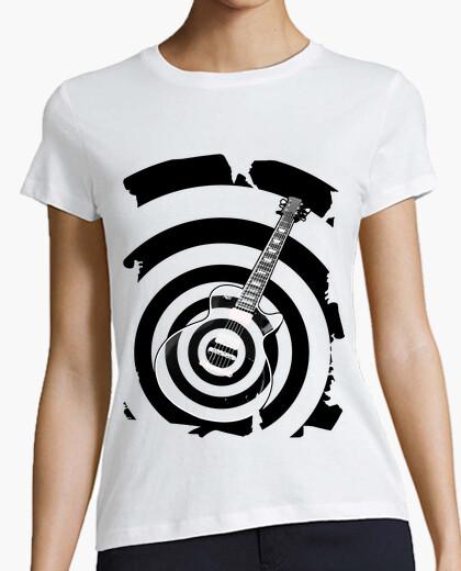 T-shirt nero label chitarra