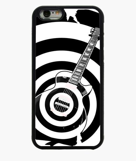 Cover iPhone 6 / 6S nero label chitarra