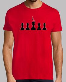nero pedine degli scacchi bomba