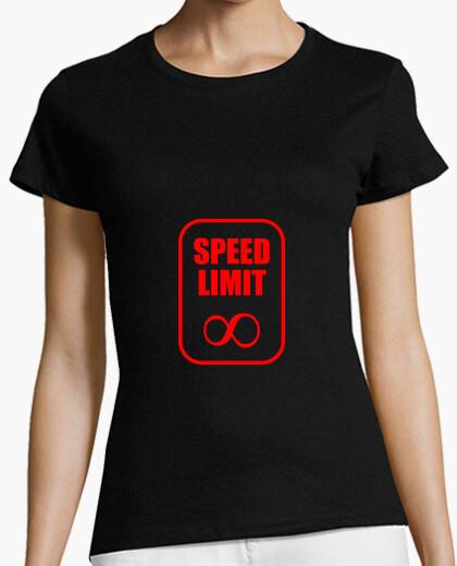 T-shirt Nessun limite di velocità / moto / pilo