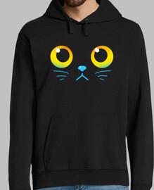 neugierige Augen - schwarze Katze