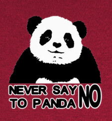 Camisetas NEVER SAY NO TO PANDA