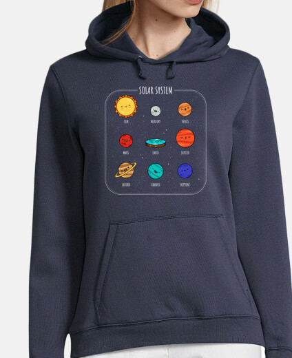 new solar system woman hoodie