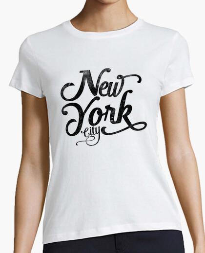 New york city typography t-shirt