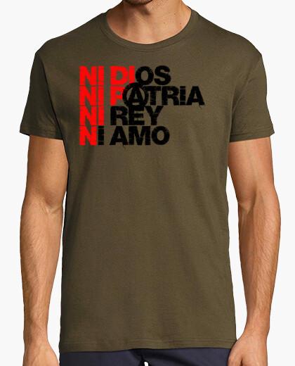 Camiseta Ni Dios Patria Rey Amo Bandera CNT