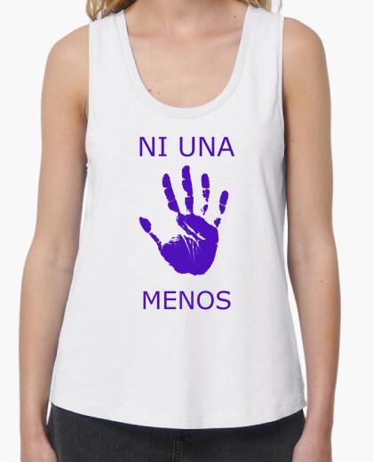 Camiseta Ni una menos, tirantes anchos & Loose Fit, blanca