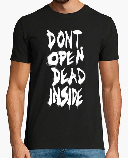 T-Shirt nicht offen von the walking dead - weiß vertikal