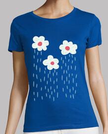 niedliche Regenwolken Regenwetterblumen