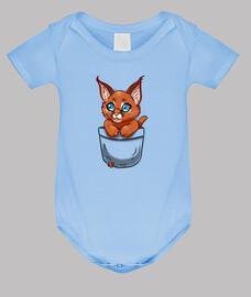 niedliches caracal Kätzchen der Tasche