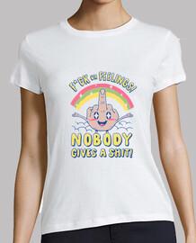 niemand gibt einem sh * t shirt damen