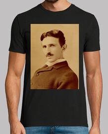 Nikola Tesla Hombre, manga corta, negra, calidad extra