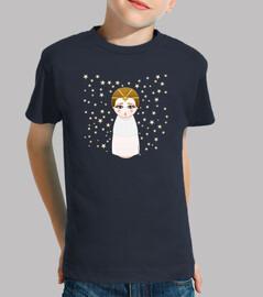 Nin @ kokeshi impératrice  tee shirt  enfant (l'histoire