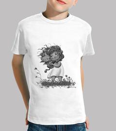 Niña con gatito - Camiseta niño