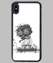 Niña con gatito - iPhone XS Max