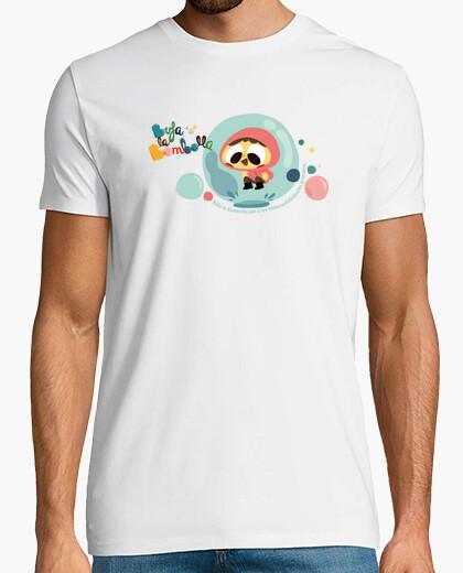 Camiseta Niña en burbuja saltando en charco