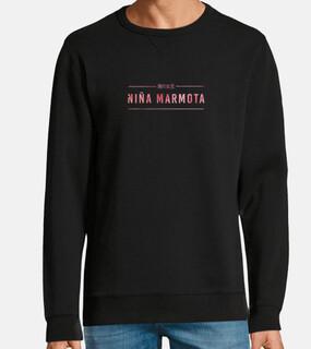 {niña marmota} — black sweatshirt