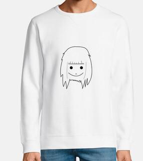 {niña marmota} — white sweatshirt