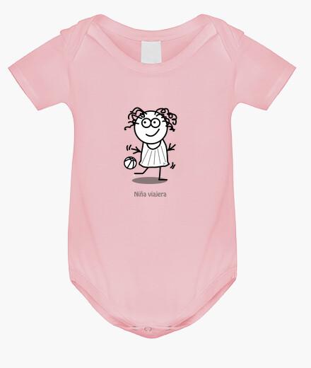 Ropa infantil Niña viajera-Body bebé, rosa