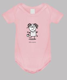 Niña viajera-Body bebé, rosa
