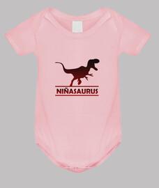 Niñasaurus body de bebé niña para niña dinosaurio