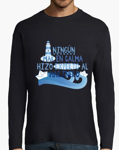 Camiseta Ningún mar en calma hizo experto al mari