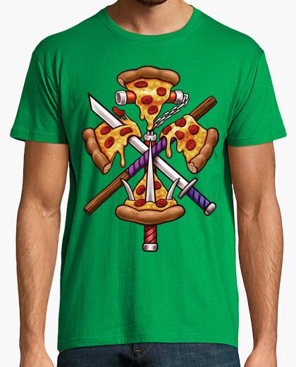 Camiseta ninja de pizza