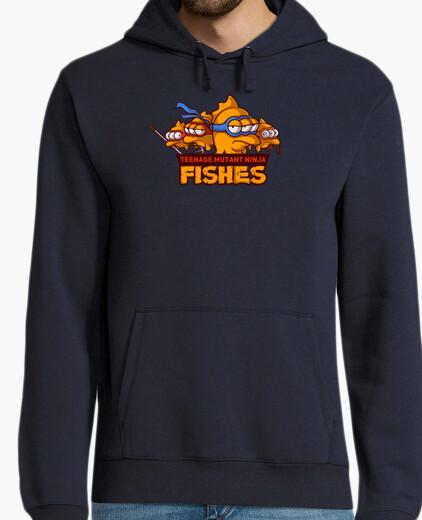 sconto bello e affascinante design innovativo Felpa ninja pesce