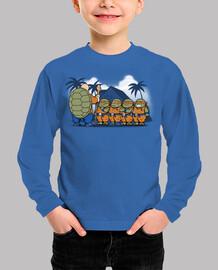 ninjas niños kame -niños camiseta