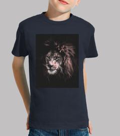 niño con leon