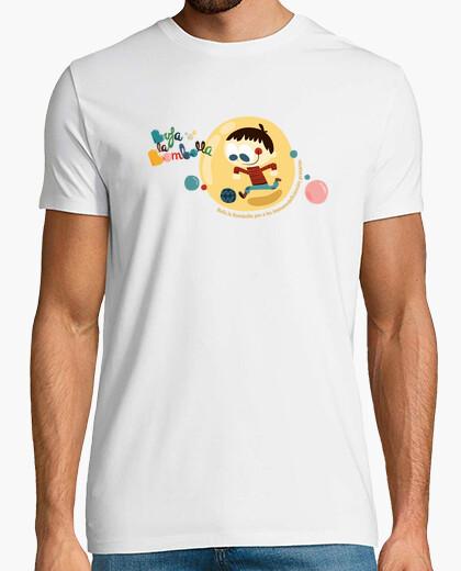 Camiseta Niño en burbuja jugando a pelota