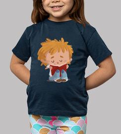 Niño leyendo - camiseta niño
