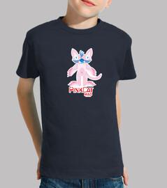 Niño, manga corta, azul marinopink cat madrid