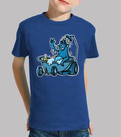 Niño, manga corta, azul royal