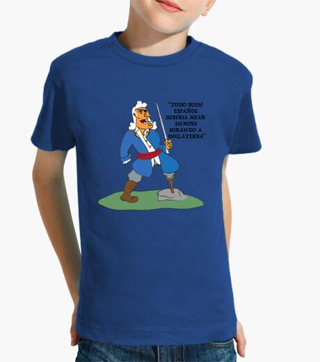 Ropa infantil Niño, manga corta, azul royal Blas
