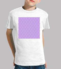 Niño, manga corta, blanco, lilac kisses pattern