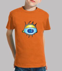 Niño, manga corta, naranja - ojo