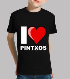 Niño, manga corta, negra I LOVE PINTXOS