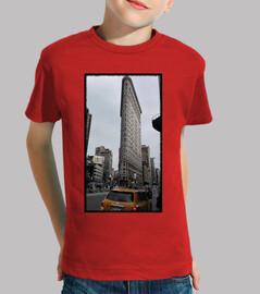 Niño, manga corta, rojo. New York