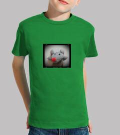 Niño, manga corta, verde, Raton pelicula