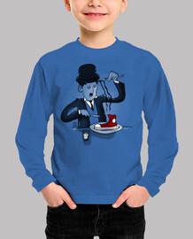 Niño, manga larga, azul royal