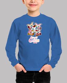Niño, manga larga, azul royal Crowd of cats, Multitud de Gatos