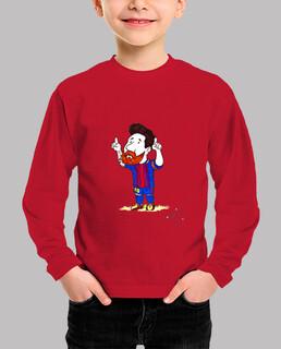 Niño, manga larga, rojo,para el,barcelona,regalo,futbol,messi,