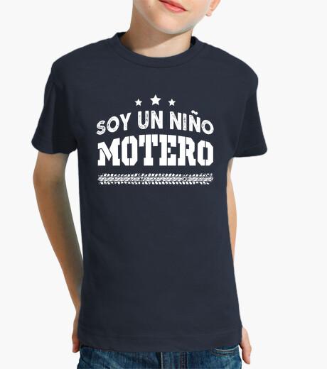 Ropa infantil Niño Motero - Niño, manga corta, azul marino