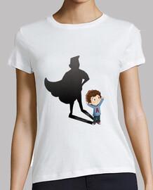 Niño superheroe - camiseta mujer